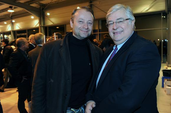 35. Marco (Lyon People) et Franck Levôtre, président du groupe Levôtre