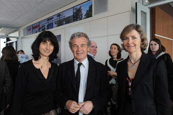 5. Anne-Marie Baezner (GL Events), Bernard Millot (Département du Rhône) et Blandine Vignon (CCI Lyon)