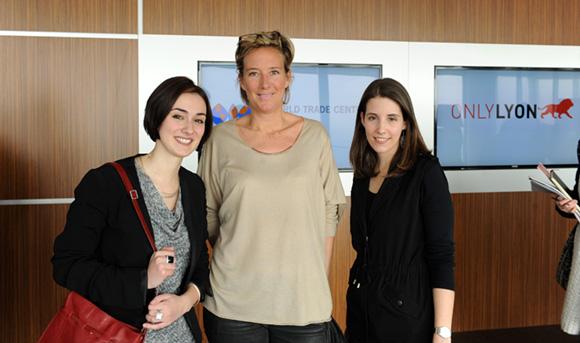 7. Emmanuelle Manfredi (CGPME), Olivia Cuir (Esprit des Sens) et Aurélie Magnin (Aderly-Invest In Lyon)