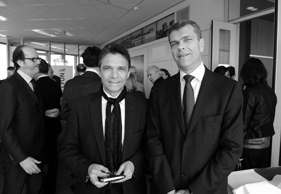 9. Olivier Bernardeau (OL) et Yves Theoleyre (Le Mat' Electrique)