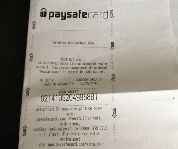 15 € Paysafecard