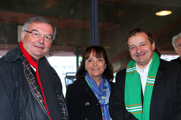 Général magali carenco et maurice vincent maire de saint etienne