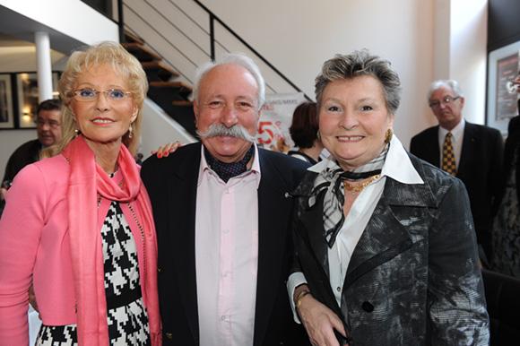 1. Simone Glacon, présidente du conseil de surveillance, Jacques Magat et Monique Claraz