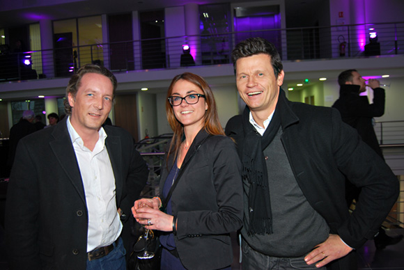 16. Pierre-Yves Flory (Ste Foy Immobilier), Elodie (Lyon people) et Christian Lafaye (Ste Foy Immobilier)