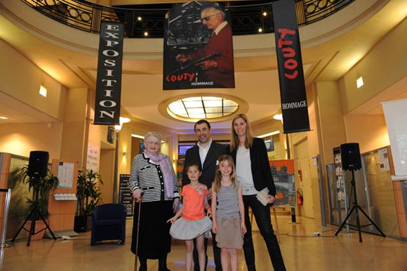 1. Simone Couty, son fils Charles, Myriam, leurs filles Candice et Clémence