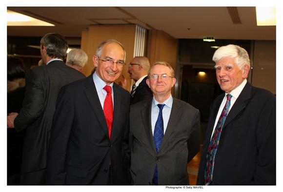 20. Denis Gindre (APICIL), Jean Agnès, ancien président de la CCI et Daniel Closon, ancien directeur général de la Métallurgie