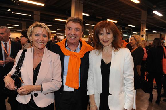 21. Michèle Hingrez, Bernard Fontanel, président du Medef Lyon et Isabelle Gonon (Byblos Group)