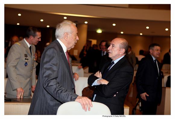 22. Alain Mérieux et Gérard Collomb, sénateur-maire de Lyon