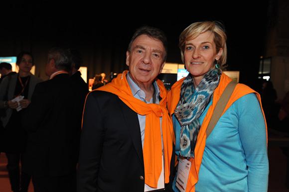 4. Bernard Fontanel, président du Medef Lyon Rhône et Blandine Peillon (Jours de Printemps)