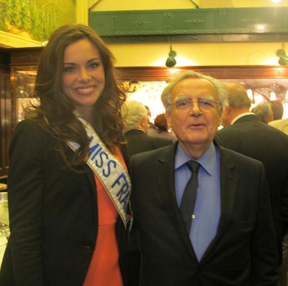 Marine Lorphelin miss France et Bernard Pivot