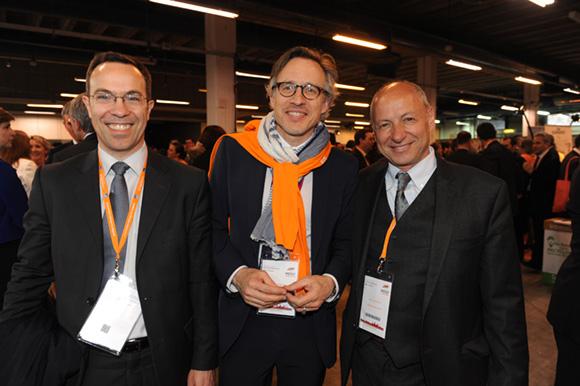 43. Cyril Fromager (Rhône-Alpes PME Gestion), Laurent Jouisse (Caisse d'Epargne) et l'horloger Jean-Louis Maier