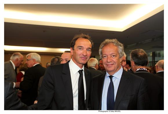 5. Dominique Pella, délégué de l'Inserm (Ceser) et Philippe Grillot, président de la CCI