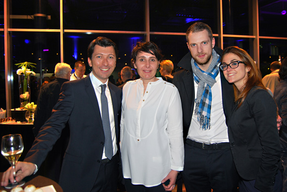 53. Laurent Bernardeau (Responsable Communication & Marketing Mercedes-Benz & smart Lyon), Christelle Cimetière (Agence EMC), Jean-Baptiste et Elodie Aguettant
