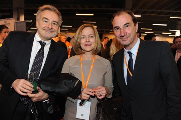 57. Michel Manent (Adecco), Isabelle Vray-Echinard (Opcalia Rhône-Alpes) et Cyrille-Frantz Honegger (SFR)