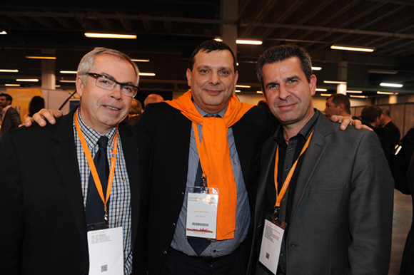58. Patrick Celma (URSSAF), Pascal Montagnon (LOU Rugby) et Olivier Brunet (BTP Rhône)