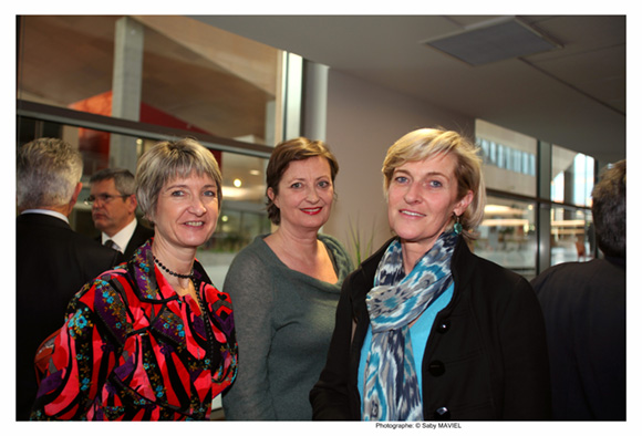 6. Anne-Sophie Panseri, présidente de Maviflex, Véronique de Montlivault (Fondation Emergence) et Blandine Peillon (Jours de Printemps)
