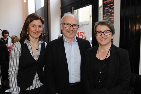 6. Sandra Clair (Ambulances Oullinoises), Christian Abrial (Somovent) et son épouse Denise