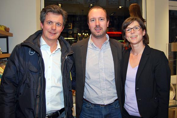 7. Benoît Garcier, Fanny Pousset (Caisse d'Epargne Rhône-Alpes) et Arnaud Biard (Optic 2000)