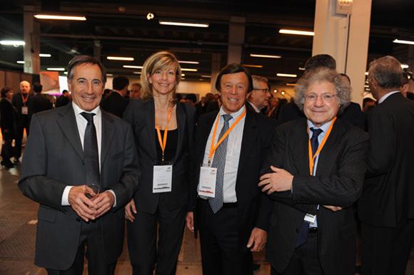 70. Michel Garcia (Everial), Ghislaine Loze (Banque Populaire), Guy Chifflot (Orapi) et Roland Tchenio (Toupargel)