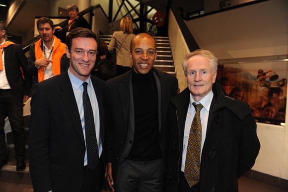 71. Michel Havard, Stéphane Diagana, champion du monde du 400 M haies et François Royer, adjoint au maire du 2ème