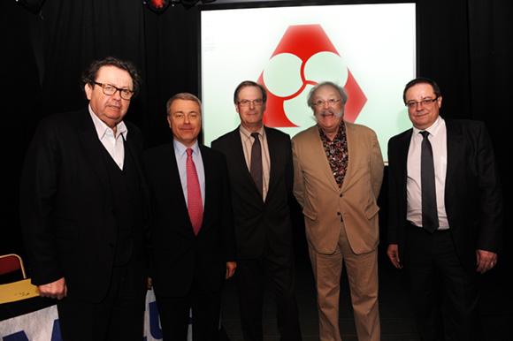 7. Philippe Vorburger, Jacques Leval, Bernard Gay, Jean-Pierre Bessard et Philippe Maisonneuve (Crédit Mutuel)