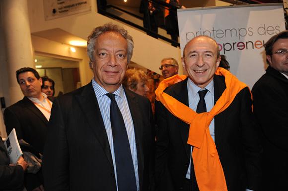 75. Philippe Grillot, président de la CCI de Lyon et Gérard Collomb, sénateur-maire de Lyon