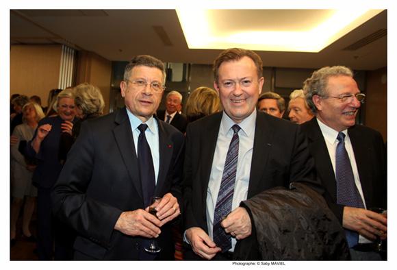 9. Jacques Gérault, directeur des affaires publiques du groupe AREVA et Yves-Marie Ulrich, maire d'Ecully