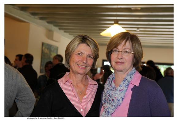 14. Isabelle Choubrac, trésorière de l'association sportive (Golf Tour de Salvagny) et Jacqueline Helterlin