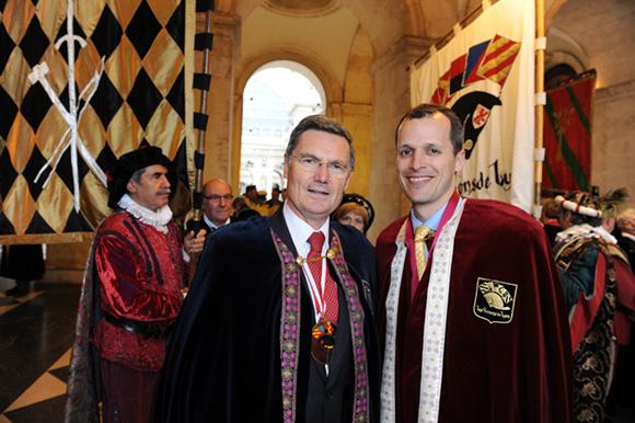 15. Christian Gelpi, président des Pennons de Lyon et Mark Andrew Schapiro, consul des Etats-Unis