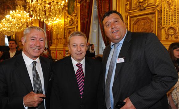 24. Denis de Bénazé, Bernard Guth (Université Lyon I) et Bruno Vernay (Le Progrès)