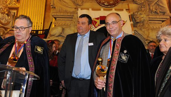 32. Joël Toussaint, Bruno Vernay (Le Progrès) et Marc Charveriat