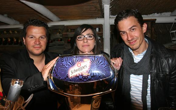 45. L'équipe Schweppes : Damien, Emilie et David