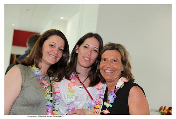 12. Emilie Oliviero (Biomérieux), Estelle Roche (Agence de L'eau) et Caroline Pinault (Idrac) promo 2012
