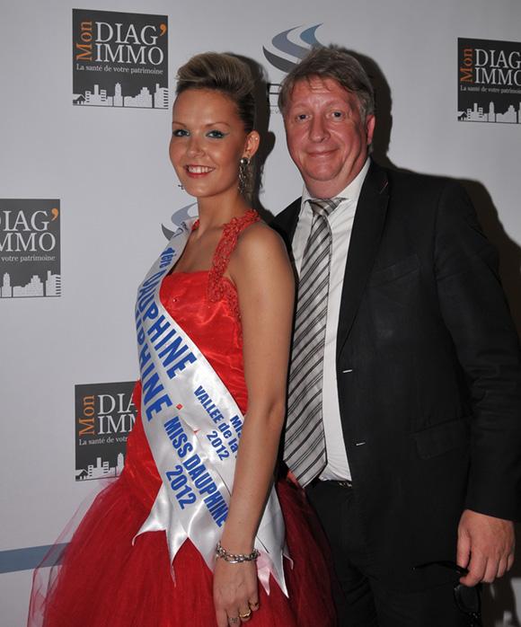 17. Catia, dauphine de Miss Lyon 2012 et Michel Lopez (Joaillier Korloff)