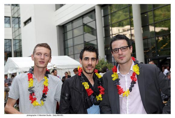 24. Antoine Lemuet (Unac), Aurélien Bachert (Alten) et Emeric Gauthier (Sixt), promo 2011
