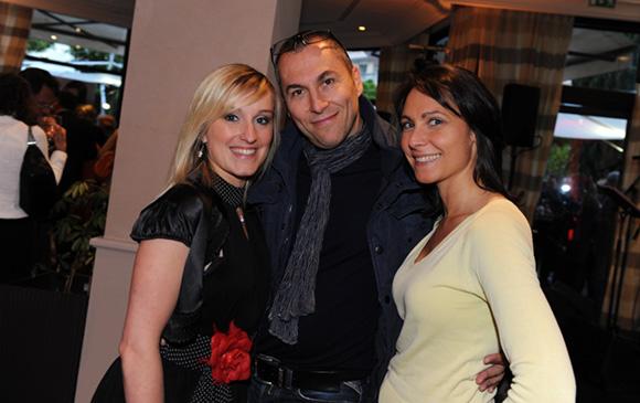 29. La chanteuse Nadège Corneilla, Fabrice (Lyon People) et Anne-Cécile Dell' Aquila (Magic Influence)