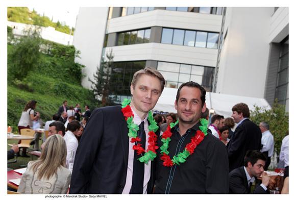 30. David Borron (BNP Paribas) et Stéphane Bellintani (Perpharma), promo 2001