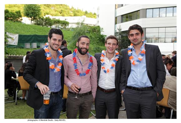 31. Romain Bicheron, promo 2010 (Idrac), David Umbert (Différent87), Steven Gardon, promo 2010 (BNP) et Alexis Scarlat, promo PGE 2013 (GCC)