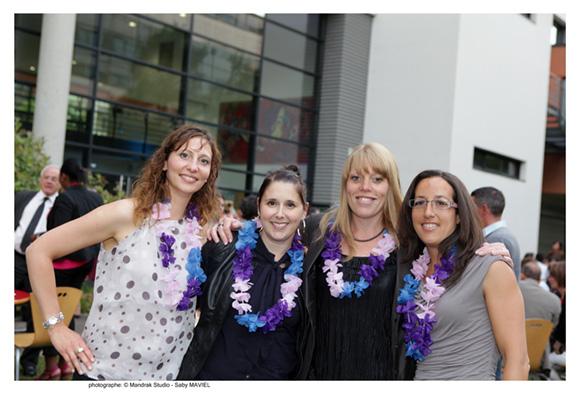 33. Marie Galinier (Mairie de Craponne), Nathalie Radisson (Novaday), Brigitte Dufresnes (Oki System France) et Saraha Besson (Pôle Emploi), promo 2003