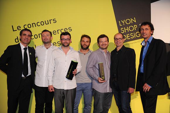 35. Stéphane, Jean-François, Frédéric Marteau (Lucien & La Cocotte Cie), Guillaume Daydé (Espace Gaä Architecture) et Hervé Guitaut (Agence Caracas)