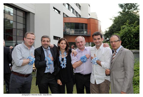 35. Damien (Gravic), Rodolphe (Noname Company), Karine (Kruger), Renaud (Hardis), Damien (BTC) 1ère promo MME 95 et Alli Hannas (Idrac)