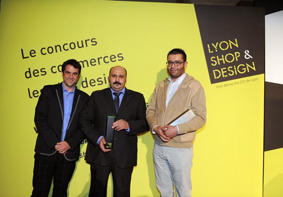 36. Ludovic Noël, directeur général Cité du Design, José Dias (Boulangerie Dias) Prix du public et Nordine Mebarki (Atmosphère Agencement)
