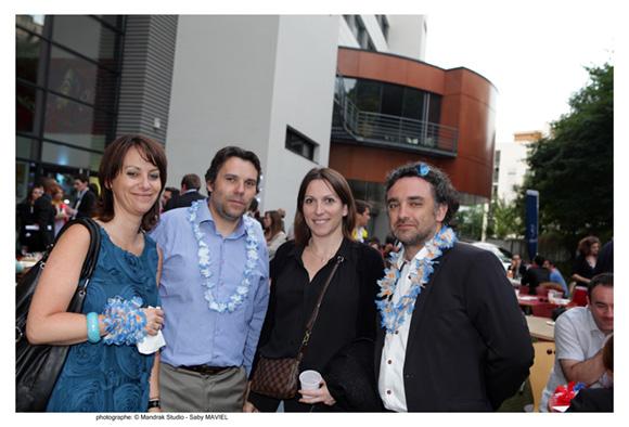 36. Florence Badoil (Régis Badoil), promo 95, Vincent Badoil (ICVB), promo 94, Anne-Laure Masset (Berger Assurance) et Norbert Decollonges, promo 95 (Cabinet Axxa)