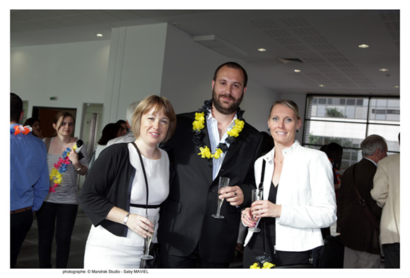 8. Elodie Guennou (Marine Nationale), Jean-Laurent Rauzet (Marine Nationale) et Mathilde Michon (SNCF), promo 2006