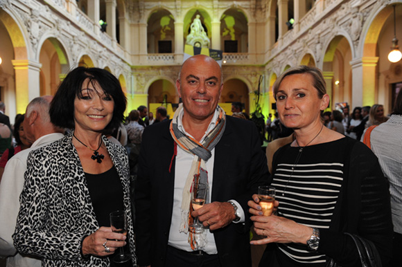 9. Michelle Stortz, Eric Mazoyer (Mairie de Limonest) et l'artiste peintre Bénédicte Seguin-Ducroux