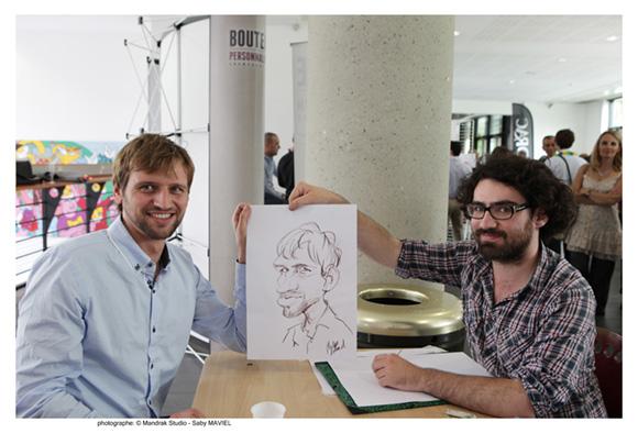9. Franck Planquet (Savoir et être) et Philippe Rolland, caricaturiste
