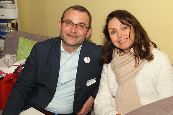 14. Yvon Champalle (Des Impressions Des Hommes) et Peggy Perron, membre du staff d'organisation