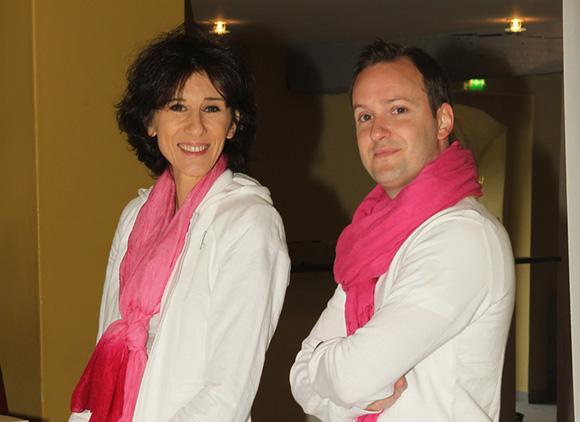 2. Frédérique Bernard-Sablière, l'une des organisatrices du Trophée et David Toutut, membre du staff d'organisation