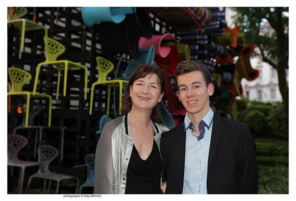 10. La journaliste Nadine Fageol et Landry Galateau (Claude Cartier Décoration)