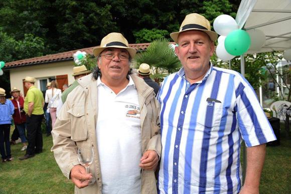 10. Gérard Gutierrez (Fédération Française Rugby à XIII) et Gérard Bert (Cars Berthelet)